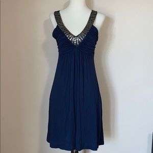 Soprano sleeveless v-neck navy dress S